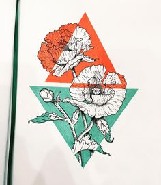 "Georgiana Elena on Instagram: ""#sketch #sketchbook #geometric #color #flowers #poppy #illustration #drawing"" Flower Sketches, Art Sketches, Art Drawings, Drawing Flowers, Poppy Drawing, Painting Flowers, Art Flowers, Flowers Garden, Summer Flowers"