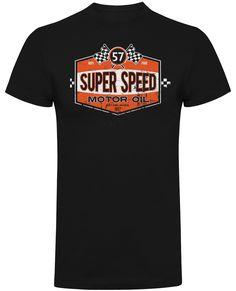UK's largest range of Hot Rod, Biker, Kustom Kulture clothing and accessories Super Speed, Kustom Kulture, Motorcycle, Hot, Cotton, Mens Tops, T Shirt, Clothes, Black