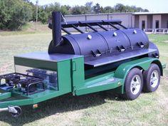 Horizon smoker triple door with mags Bbq Smoker Trailer, Bbq Pit Smoker, Barbecue Smoker, Bbq Grill, Trailer Smokers, Backyard Smokers, Outdoor Smoker, Custom Bbq Smokers, Custom Bbq Pits