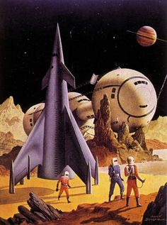 Detail from the cover of the July 1953 issue of Science Fiction Adventures magazine.