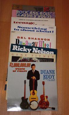 8x 12  Vinyl Collection ROCK N ROLL - GENE PITNEY DEL SHANNON DUANE EDDY