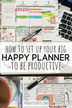 Use these tips to organize & set up your Happy Planner. These ideas can work for any planner system & will help you be productive this year! Mom Planner, College Planner, Planner Tips, Planner Layout, Planner Supplies, Weekly Planner, Happy Planner, Office Supplies, Teacher Planner