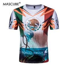 0869ae94744 MASCUBE Soccer Jersey Mexico Team Short Sleeve T-shirt Printed Tee Shirts