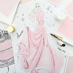 Fashion Drawing Dresses Sketches Megan Hess 44 Ideas For 2020 Megan Hess Illustration, Disney Illustration, Illustration Sketches, Drawing Sketches, Only Fashion, Pink Fashion, Fashion Art, Fashion Prints, Trendy Fashion