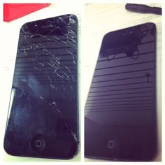 Cracked iphone 5 screen, fixed in 20 minutes!