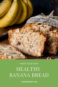 Nothing like the scent of banana bread wafting from the kitchen! Keep this recipe in your pocket for a healthy snack sure to please anyone. Homemade Banana Bread, Healthy Banana Bread, Banana Bread Recipes, Spelt Flour, Oat Flour, Almond Flour, Unrefined Coconut Oil, Processed Sugar, Healthy Snacks