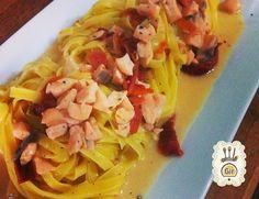 Chef Gir, ricette e videoricette Fettuccine con Salmone, pomodori datterini secchi e lime » Chef Gir, ricette e videoricette