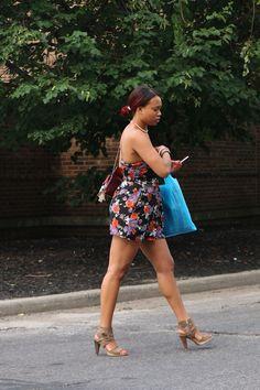 Candid Photo sexy ebony dave's supermarket shaker square Cleveland