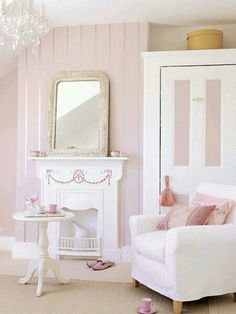 Pretty pink and white