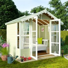 Looking for small summer house? See the best small summer house as rated by WhatShed. We'll help you find the best small summer house available today. Small Summer House, Summer House Garden, Home And Garden, Summer Houses, Garden Shop, Latest House Designs, New Home Designs, Cool House Designs, Garden Buildings Direct