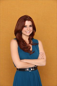 Joanna Garcia. love this color red.