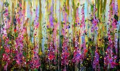 Buy Foxgloves - Large Painting (Diptych), Acrylic painting by Angie Wright on Artfinder. Discover thousands of other original paintings, prints, sculptures and photography from independent artists.