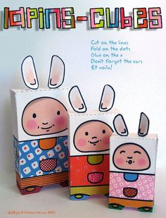 bunny paper toy #free #printable #easter #holidays #diy #crafts