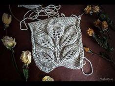 "Pattern ""Leaves on a branch"" ♥ Part 2 ♥ Knit . - - Pattern ""Leaves on a branch"" ♥ Part 2 ♥ Knitting ♥ Wild Rose ♥. Lace Knitting Patterns, Knitting Stiches, Knitting Videos, Lace Patterns, Crochet Stitches, Knit Crochet, Knitting Needles, Knitting For Kids, Free Knitting"