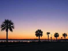 Sunset by the Water, Charlesto, SC. Will be heading there again soon. :-)