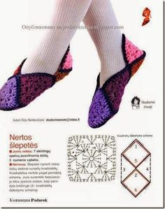 ru / Фото - my favorite crochet - zebdok Filet Crochet, Crochet Motif, Easy Crochet, Crochet Stitches, Knit Crochet, Crochet Patterns, Crochet Boots, Crochet Clothes, Granny Square Slippers