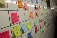 'Subway Therapy': Commuters Stick Post-It Notes on Walls to Share Election Blues America New President, New York Subway, Trump Wins, Free Therapy, Yahoo News, Tomorrow Will Be Better, Cbs News, Worlds Of Fun, Finding Yourself