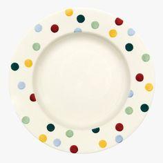 """Polka Dot 10 1/2"""" Plate"""