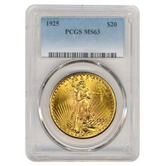 1925 $20 Gold St. Gaudens Double Eagle Coin PCGS MS 63 in Coins & Paper Money, Bullion, Gold | eBay