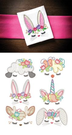 6 lovely Easter inspired topper designs in applique! Available for instant download on designsbyjuju.com Sewing Appliques, Machine Embroidery Patterns, Machine Quilting, Machine Applique, Silk Ribbon Embroidery, Embroidery Applique, Embroidery Files, Stitching On Paper, Tie Quilt