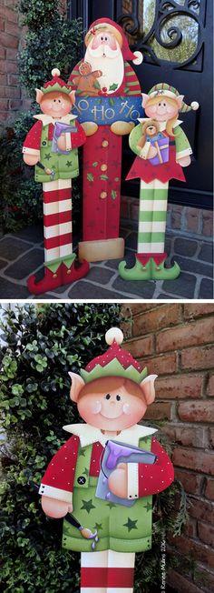 "#705 ""Boy Elf Porch Greeter"" (PATTERN)"
