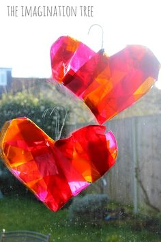 Turn old coat hangers into these Stunning Heart Suncatchers! These Valentine's Day crafts for kids are surprisingly simple to make, but they certainly don't skimp on beauty.