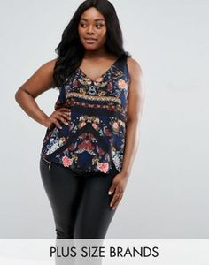 82f95f9c5 River Island Plus Floral Print Cami at asos.com. Plus Size Womens  ClothingPlus ...