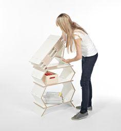 Stockwerk Foldable Bookcase - Design Milk