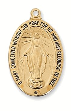 This gold over sterling silver Miraculous Medal is really awesome.
