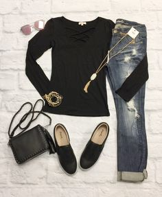 ee39dfd30338 Simple Is Best Top: Black from privityboutique Casual Fall Outfits, Casual  Attire, Winter
