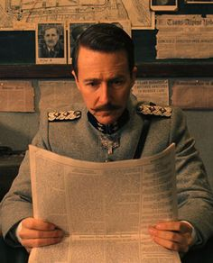 "The Style: The Military The Story: Zero wasn't the only one to take a page out of Gustave's book. As a young boy, Edward Norton's character, Inspector Henckels, was looked after by the beloved concierge. Therefore, his mustache was similar to Gustave's—but with a bit more authoritarian flare. ""[It] was very uptight and clipped and precise,"" Hannon says. ""I know Ed loved his. He said it was one of the best mustaches he ever had, and I think it was proportionately perfect… It's not too hard…"