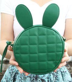 Cute rabbit ear diamond-shaped circular shoulder bag $23.99