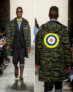 Mark Mcnairy camo coat with Mod target - want!