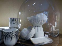 """""""Blanc ciselé"""" porcelaine facettée"""