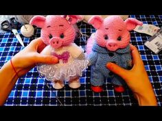 VK is the largest European social network with more than 100 million active users. Crochet Pig, Crochet Crafts, Crochet Dolls, Crochet Projects, Baby Knitting Patterns, Hand Knitting, Crochet Patterns, Handmade Soft Toys, Plush Pattern