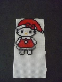Christmas Hello Kitty hama beads by mamypapou