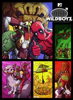 Deadpool & Boba Fett - Wild Boyz - by m7781 #StarWars #Marvel
