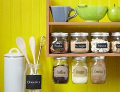 I love mason jars. I think this is a cool idea. So want to do this in my kitchen. :)