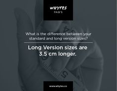whytes FAQ's: What is the difference between the standard and long version sizes? #longVersion #perfectwhite #perfectwhitetshirt #madeingermany