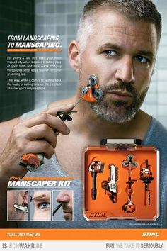 Manscaping LOL! WtF... It better run on mixed gasoline!