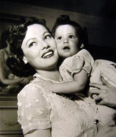 Gene Tierney and bub, 1950s. | Children Of The Stars... | Pinterest