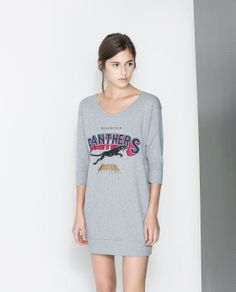 The sexiest kind of lounging - a short sweatshirt dress. $36