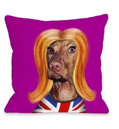 Pets Rock Redhead Throw Pillow