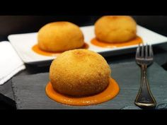 BOMBAS DE BACALAO - YouTube Canapes, Appetizers, Make It Yourself, Cooking, Ethnic Recipes, Bechamel, Albondigas, Food, Youtube