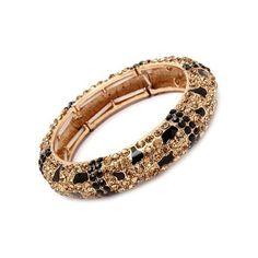 Jersey Bling Animal Jewelry Leopard Topaz Swarovski Crystal Bling... ($32) ❤ liked on Polyvore