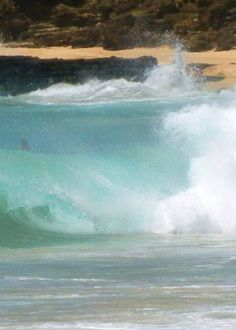 rolling waves at sandy beach...love this place!