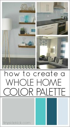 How to Create a Whole Home Color Palette- A great step by step to guide me to pick the right colors for my home and how to use them in interesting ways in each room so that my home is interesting and cohesive! - A Interior Design Sweet Home, Diy Home Decor, Room Decor, Colour Schemes, Color Palettes, Paint Schemes, Interior Paint, Diy Interior, Luxury Interior