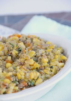 Quinoa Salad with Corn, Red Bell Pepper, and Jalapeño