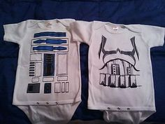 Star Wars Baby Onesies - i love to draw on shirts anyways so ill be really glad i reposted this some day