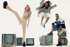 Kicking it: Kendall Jenner stars in the November issue of Vogue to introduce the 2015 finalists for the CFDA Fashion Fund awards. She is pictured with pal Jaden Smith and Gypsy Sport designer Rio Uribe Jaden Smith, Sport Chic, Sport Girl, Chic Outfits, Sport Outfits, Givenchy, Lineisy Montero, Gypsy, Kendall Jenner Photos